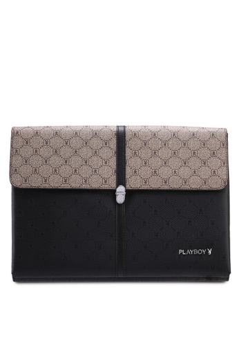 Playboy brown Playboy Clutch Bag 1E59EAC5DC38C7GS_1