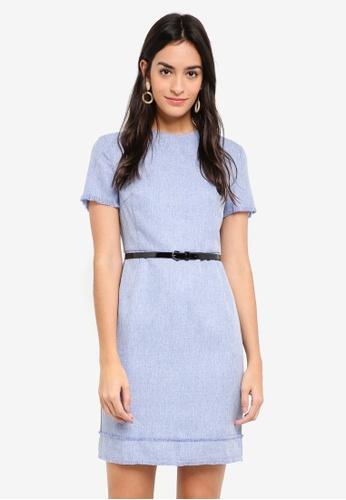 ZALORA blue Tweed Dress DFBF6AA23D17EAGS_1