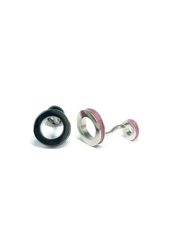Splice Cufflinks pink Pink Hoop Cufflinks  SP744AC77EEGSG_1