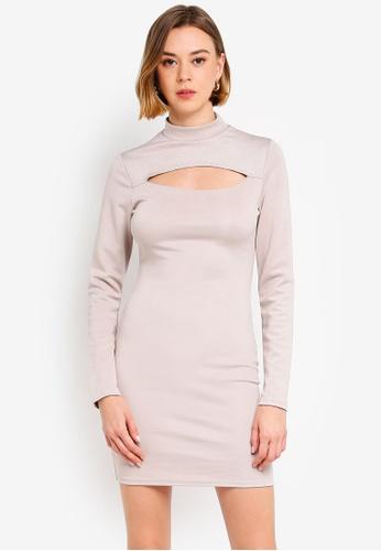 09fcd514858 Buy MISSGUIDED Bandage Cut Out Long Sleeve Mini Dress Online on ZALORA  Singapore