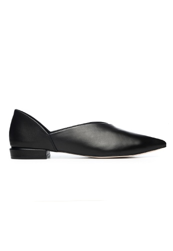 Byford black Dovey - Pointed toe paneled flats 28D42SH5A9F102GS_1