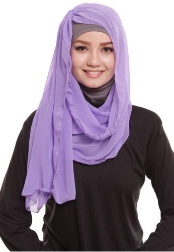 Mybamus Wrinkle Plain Intant Veil Purple