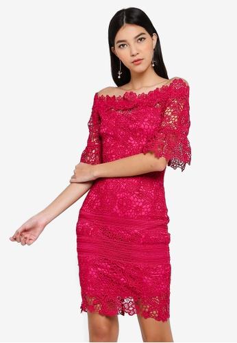 Paper Dolls pink Pink Bardot Dress BE997AA8DABE5BGS_1