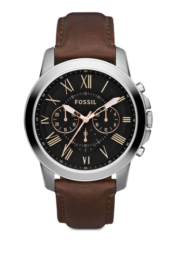 Fossil brown Grant Chronograph Watch FS4813IE B2E41ACB924316GS_1