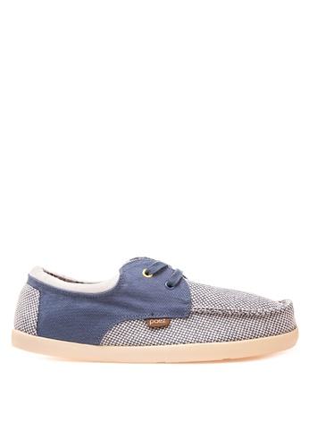 Paez grey and blue Folk Mens Sneakers PA524SH51LDWPH_1