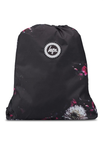 55d932d439 Just Hype black and multi Floral Placement Drawstring Bag E2AD4AC273F7E7GS 1