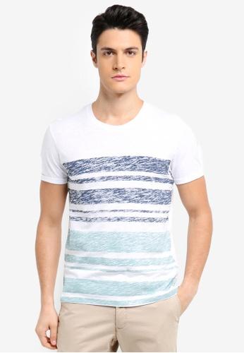 ESPRIT white Short Sleeve T-Shirt 8CE69AA776B637GS_1