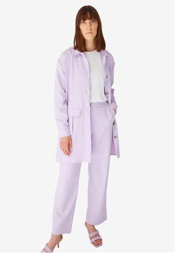 Trendyol purple Shirt & Bottom Set 8829AAAC50124FGS_1