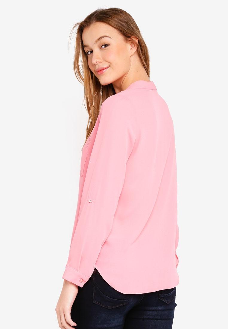 Dorothy Shirt Pink Perkins Roll Pink Sleeve FI4Frpqw
