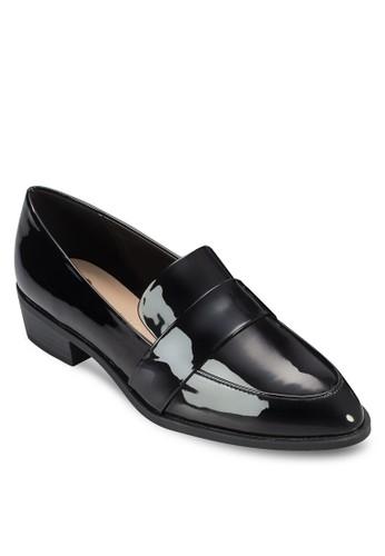 漆面esprit 旺角低跟樂福鞋, 女鞋, 鞋