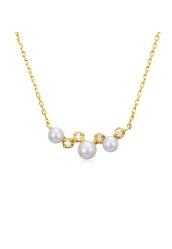 SUNSET 金色 Premium 14K Gold Pearl Necklace 1B031AC0C1DF0FGS_1