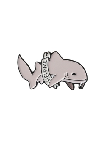Kings Collection grey Whale Enamel Pins (KCPN1043) 674F6AC00A4953GS_1
