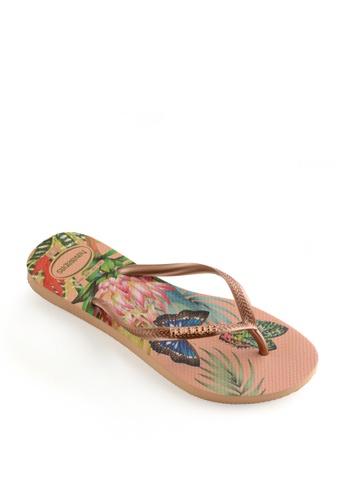 Havaianas pink Slim Tropical Flip Flops 412A2SH059B149GS_1
