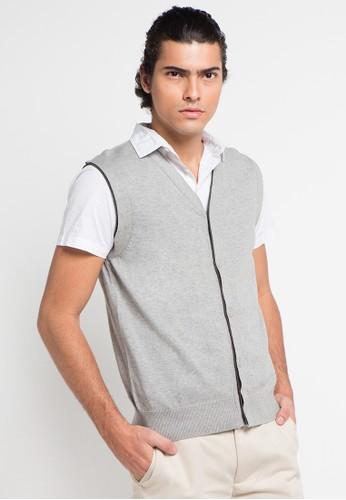 Noir Sur Blanc grey Mens Vest NO321AA0UCTJID_1