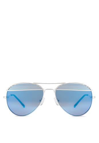 JP0117 條紋鏤空飛行員太陽眼esprit地址鏡, 飾品配件, 飾品配件