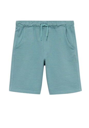 MANGO KIDS green Organic Cotton Jogging Bermuda Shorts F300DKA2FCE819GS_1