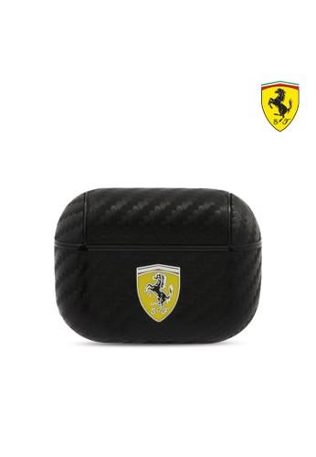 Ferrari black Case Airpods Pro Ferrari PC PU Carbon Yellow Logo - Black D66EFESCA0EC80GS_1