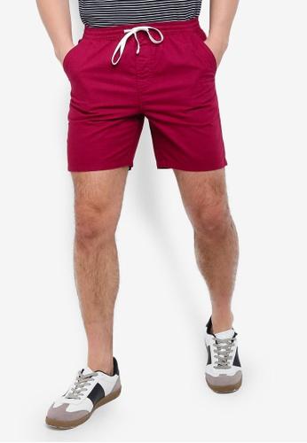 Cotton On 紅色 抽繩短褲 24A89AA59E4800GS_1