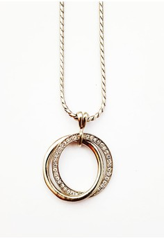 Clique Double Loop Venetian Chained Necklace Valentine's Day Special Sale