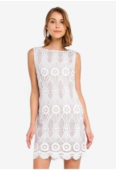 9adfec4ec1aa Wallis white Petite Ivory Floral Lace Shift Dress AED0DAABFA21A8GS 1