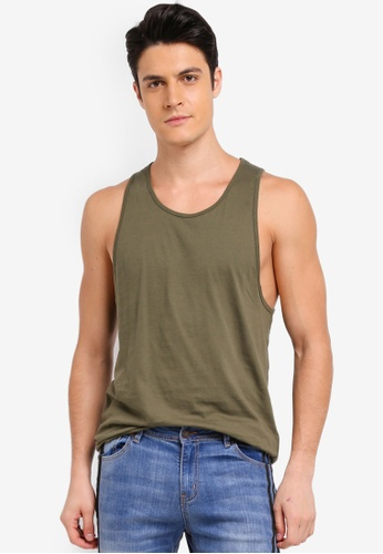 Topman 綠色 Slim Fit Vest FA114AA851D6F9GS_1