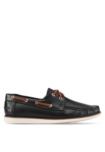 ZALORA black Essential Faux Leather Boat Shoes 6D452SH022118CGS_1