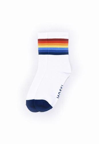 Noski Socks white Exarchia Stripes 6FFECAA63865D1GS_1