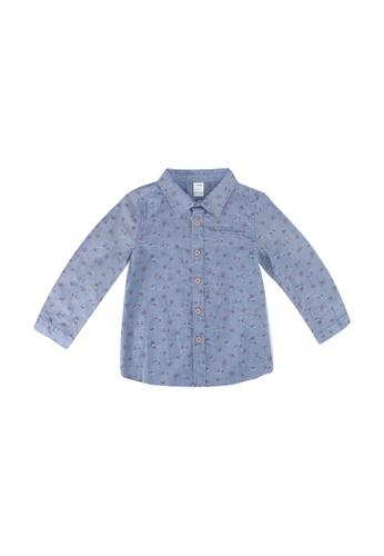 LC Waikiki blue Baby Boy's Figured Cotton Shirt 04B14KA651BF5BGS_1