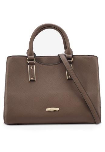 Perllini&Mel brown Faux Leather Satchel Top Handle Bag PE444AC0SIZMMY_1