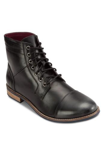 繫帶zalora 衣服尺寸皮革短靴, 鞋, 鞋
