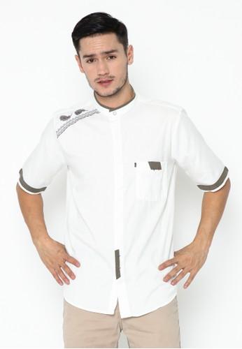 AL-LUTHFI white Koko Lengan Pendek Yusron - Broken White 4EFFFAA9D3B5CDGS_1