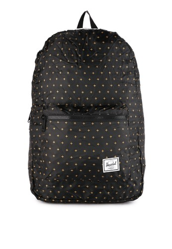 Herschel black and multi Packable Daypack E8CB2ACD7BD9DAGS_1