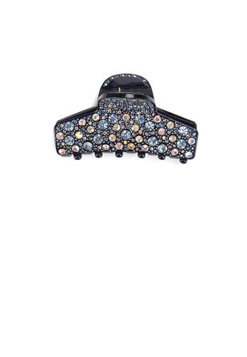 Glamorousky black Fashion Bright Geometric Hair Claw with Blue Cubic Zirconia DC767AC472E284GS_1