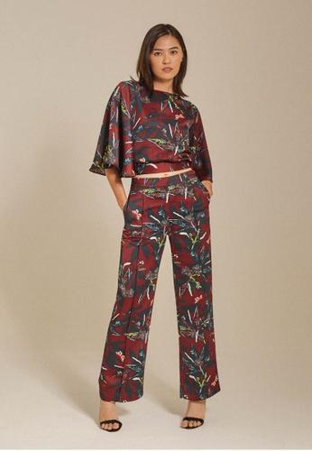 Dressing Paula red Printed Satin Wide-Leg Pants 7745AAAFA9EAB3GS_1