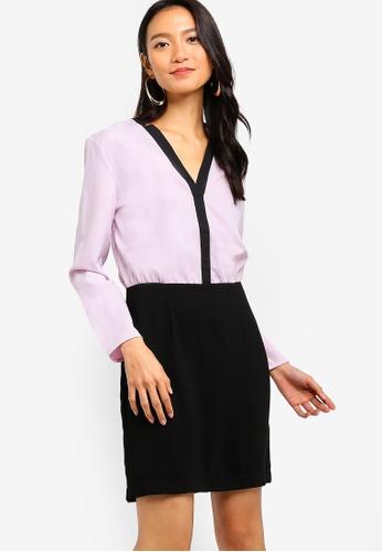 ZALORA black and purple Formal Sheath Dress 803F6AA75963A1GS_1