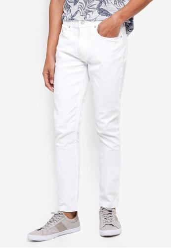 Burton Menswear London 白色 緊身窄管牛仔褲 3F638AAA4F4B84GS_1