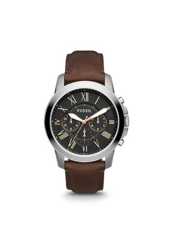 Fossil GRANT紳士型男錶esprit官網 FS4813, 錶類, 紳士錶