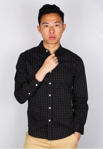 Moley black Digital Pixel Long Sleeve Shirt 87350AAB24F824GS_1