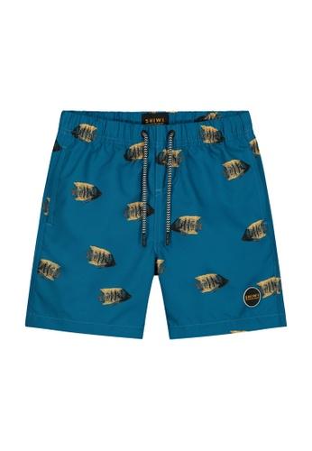 Shiwi blue Boys Printed Swim Shorts 5949FKAB55EC9DGS_1