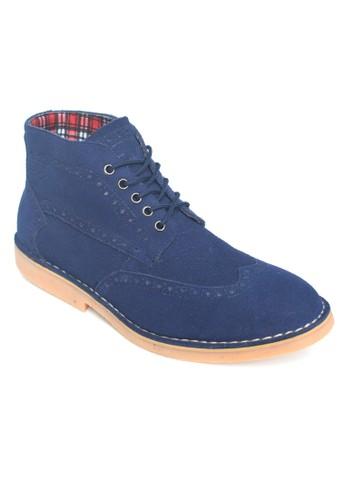 Toods Footwear blue Toods Footwear Derby Wingtip High - Biru Navy TO932SH48COTID_1
