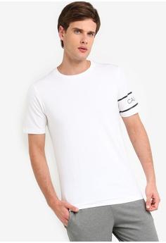 1f427d05edcf Calvin Klein white AI Armband Tee - Calvin Klein Performance  79E19AAFB16A37GS_1