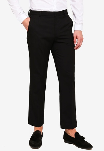 Burton Menswear London 黑色 Black Stretch Pants 4F5CBAA8351DFAGS_1