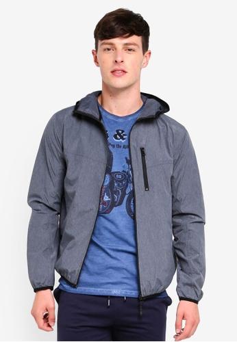 Brave Soul grey Lightweight Hooded Windrunner Pocket Jacket 5E30AAAC6293FFGS_1