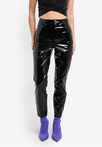 Miss Selfridge black Black Vinyl Steffi Trousers MI665AA0S2LEMY_1