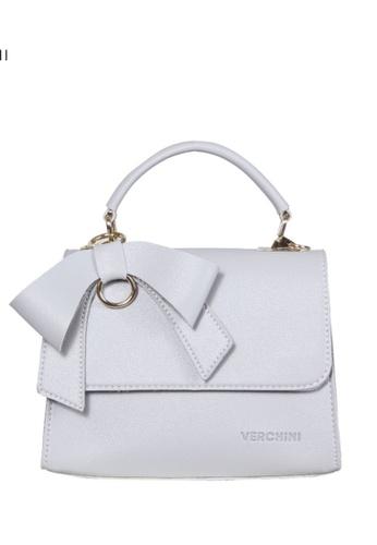 Verchini white Verchini Front Flap Top Handle Bag 8527AAC79B8E66GS_1