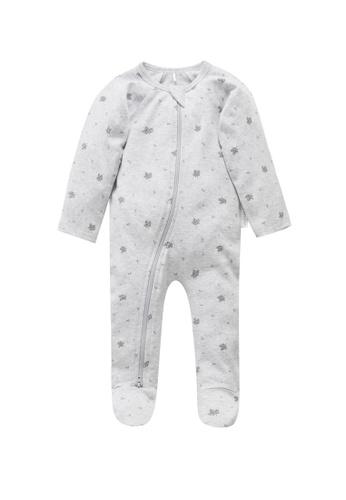 Purebaby grey Zip Growsuit E558BKA1C2902BGS_1