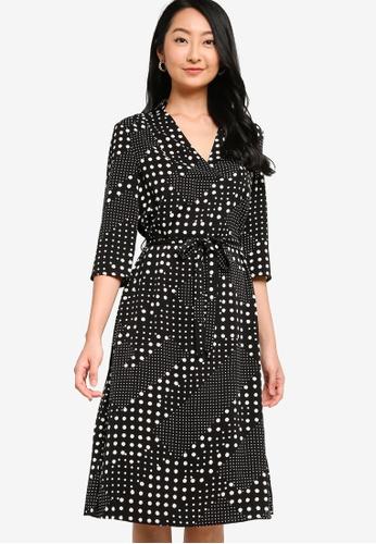 ZALORA BASICS multi Self Tie Dress A1972AA6C51337GS_1