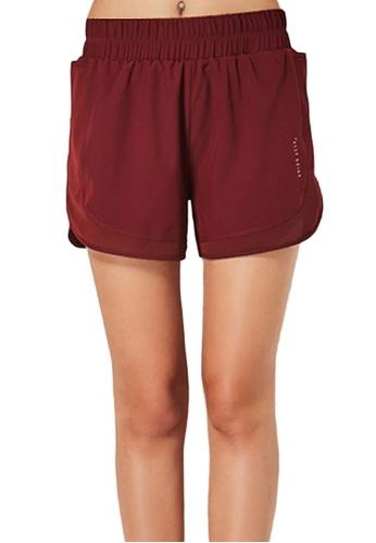 Sunnydaysweety red Loose Cutting Sports Shorts A081015RD 1CBF8AAEEC0253GS_1