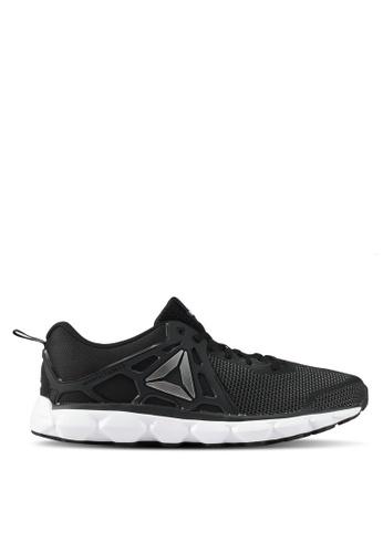 Reebok black and white Hexaffect Run 5.0 MTM Shoes RE691SH0SHTDMY_1