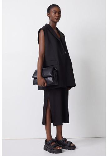 H&M black Ribbed maxi dress 7EE9DAA3FC6231GS_1